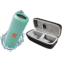 JBL Flip 3 Portable Splashproof Bluetooth Wireless Speaker Bundle with Hardshell Case - Teal
