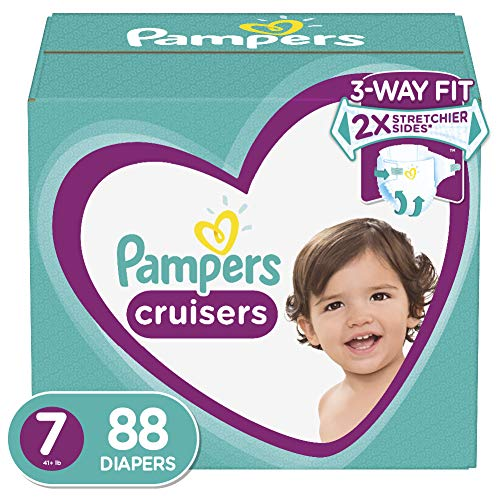 Diapers Size 7, 88 Count - Pampers Cruisers Disposable Baby Diapers, ONE MONTH SUPPLY from Pampers