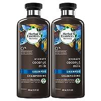 Herbal Essences Bio:renew Coconut Milk Shampoo, 13.5 Fluid Ounces Paraben Free (Pack of 2)