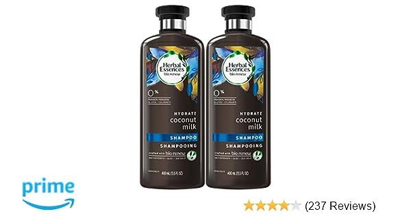 Herbal Essences Coconut Milk Shampoo, 13.5 Fluid Ounces (Pack of 2) - Biorenew, Paraben Free