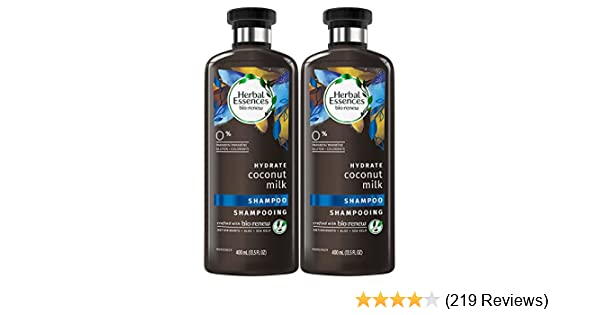 Herbal Essences Bio:renew Coconut Milk Shampoo, 13.5 Fluid Ounces Paraben Free (Pack of 2)