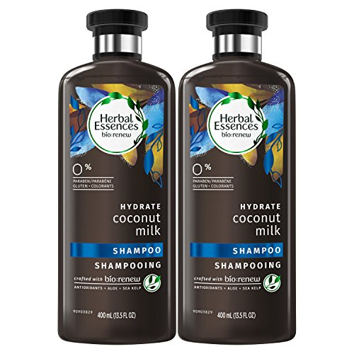 Herbal Essences Bio:renew Coconut Milk Shampoo, 13.5 Fluid Ounces Paraben Free (Pack of 2) - Hydrating Coconut Milk