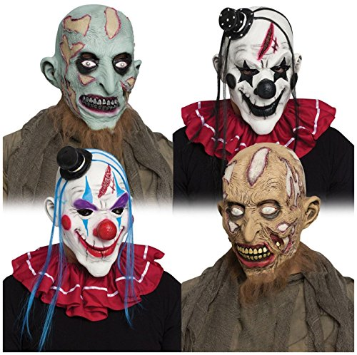 Horror Clown and Zombie Adult Mask - Zombie