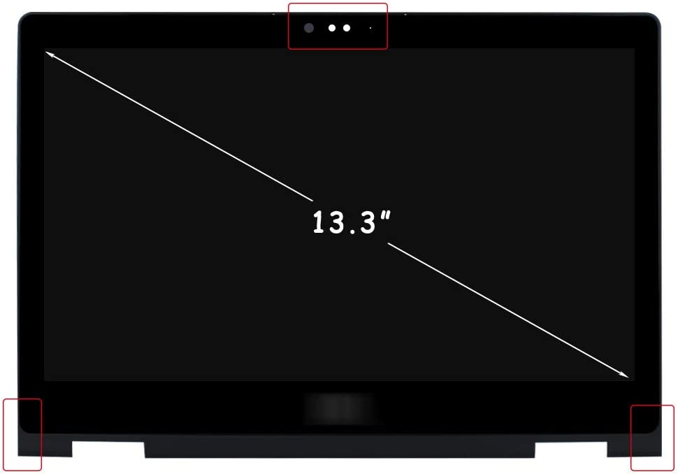 FirstLCD LCD Touch Screen Replacement Compatible for Dell Inspiron 13 5368 5378 5379 DP/N 6NKDX 06NKDX LED Display Digitizer Assembly 13.3