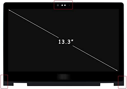 Bezel Dell Inspiron 13 5368 5378 13.3 FHD 1080P LCD LED Touch Screen Assembly