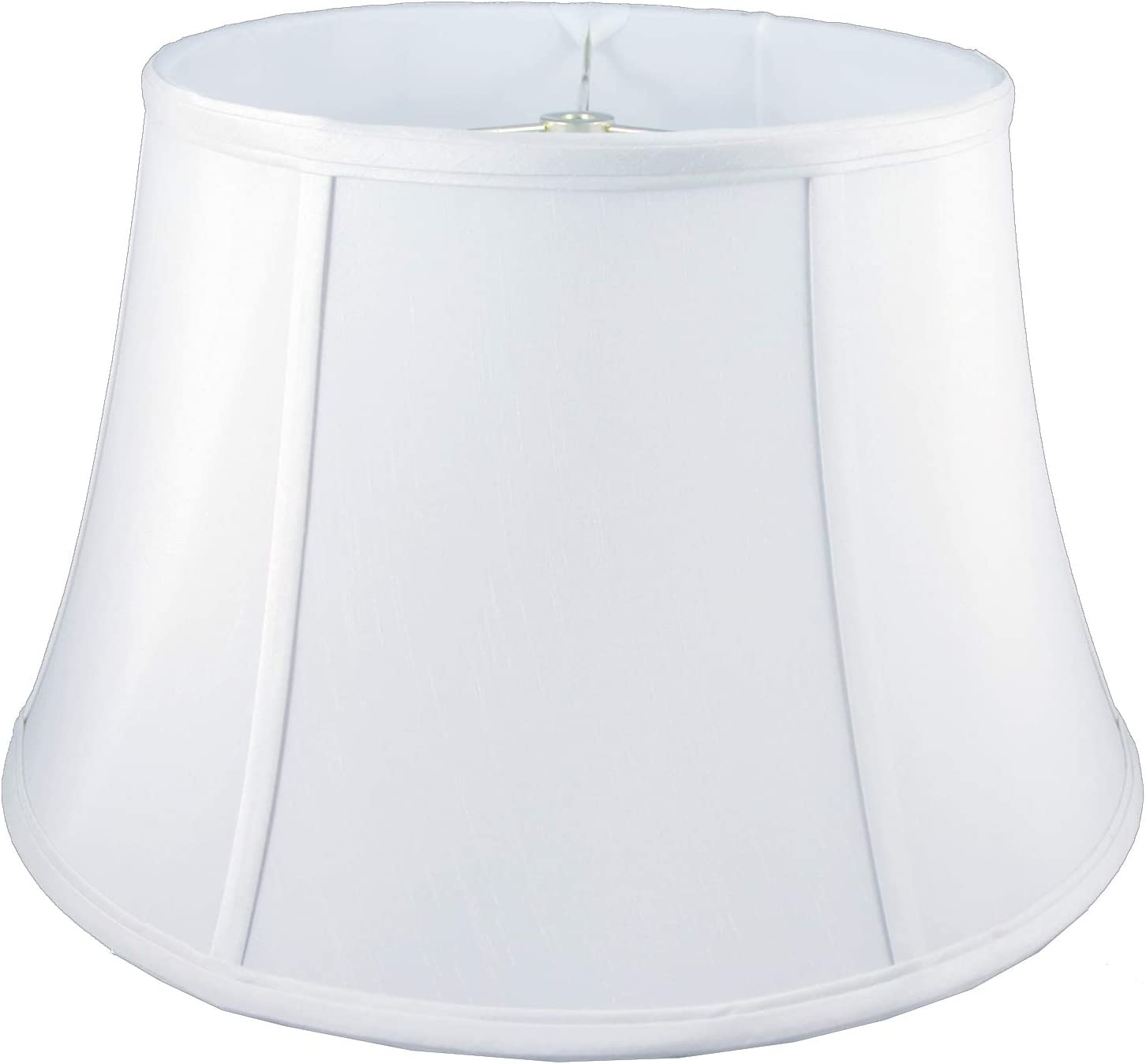 American Pride 11 x 18 x 9.75 Round Soft Shantung Tailored Lampshade, White