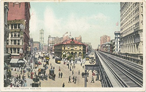 Vintage Postcard Print | Herald Square, New York, N. Y., 1908 | Historical Antique Fine Art - Ny York Herald Square New