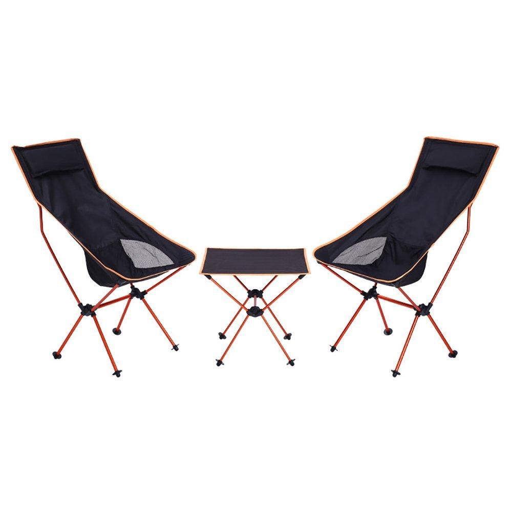 ROOKLY Camping Stuhl und Tische Dreiteiliger Anzug Leichter Klappstuhl mit Tragetasche Zum Wandern Angeln Beach Garden