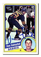 Dave Andreychuk Autographed 1984-85 O-Pee-Chee Rookie Hockey Card - Autographed Hockey Cards