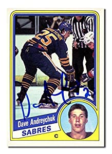 Dave Andreychuk Autographed 1984-85 O-Pee-Chee Rookie Hockey Card - Autographed Hockey Cards