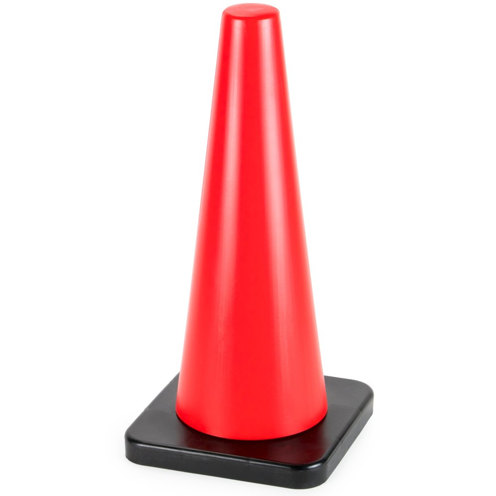 18'' High Hat Cones in Fluorescent Orange with Black Base for Indoor/Outdoor Traffic Work Area Safety Marker & Agility Sport Training by Bolthead Industrial (Single) by Bolthead Industrial (Image #2)