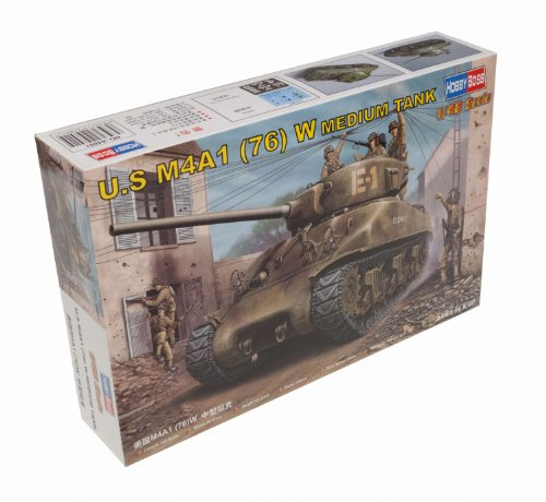 Hobby Boss US M4A1 76(W) Medium Tank Vehicle Model Building (Hobby Boss Models)