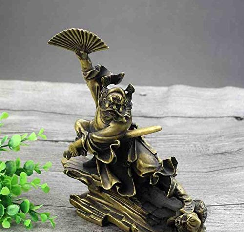 - ZAMTAC Chinese Old Antique Zhong Kui Catch The Demon Town House feng Shui Bronze Ware