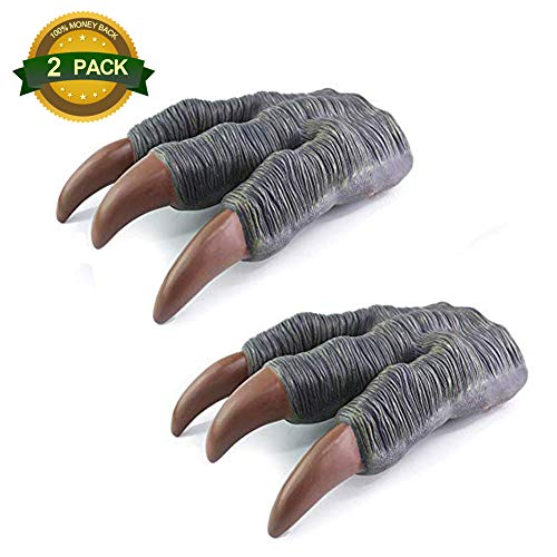 - 2 Pcs Jurassic World Velociraptor Dinosaur Claws Dinosaur Toy Glove Gift for Adult Kids Children's Party Cosplay Favors