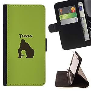 Momo Phone Case / Flip Funda de Cuero Case Cover - Tarzn;;;;;;;; - Samsung Galaxy Note 5 5th N9200