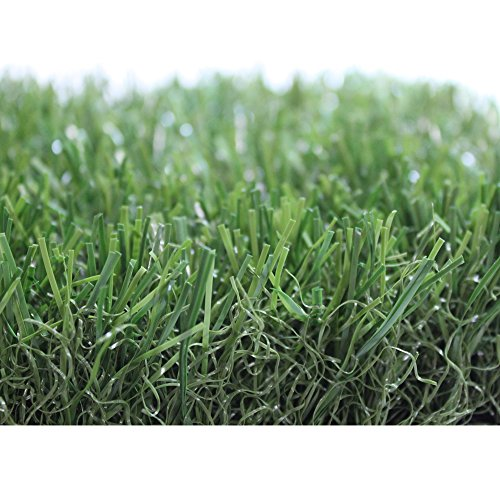 (Premium Pro Turf- 5' X 10' ALL GREEN GRASS MAT Synthetic Grass for landscaping, playground areas, poolside, pet areas, sports fields, patios, or decks)
