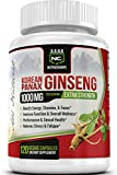 NutraChamps Korean Red Panax Ginseng - 120 Vegan Capsules - 1000mg Servings Extra Strength Root Extract Supplement w/ High Ginsenosides for Energy, Focus, Stress, Immune Support, Sexual Wellness