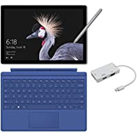 2017 New Surface Pro Bundle (4 Items): Core i7 16GB 512GB Tablet, Surface Pro 4 Type Cover Blue, New Surface Pen Platinum, Mini DisplayPort Adaptor