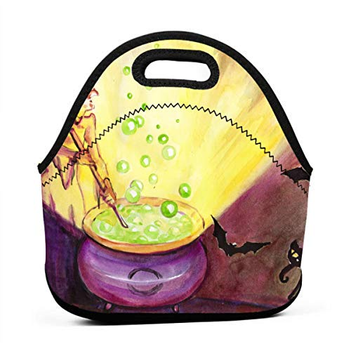 HTHR Halloween Holiday Lunch Bag Cute Reusable Portable Insulated Lunch Bag Outdoor Picnic Food Bag for Kids, Boys, Girls, Women and Men ()