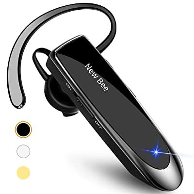 New Bee Bluetooth Earpiece V5.0 Wireless Handsfree Headset 24 Hrs Driving Headset 60 Days Standby Time