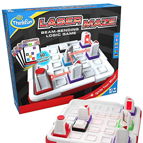 ThinkFun Laser Maze (Class 1) Brain Game and STEM Toy for Boys and Girls Age 8 and Up - Award Winning and Mind Challenging Game for Kids