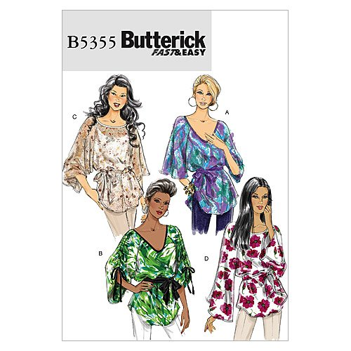 BUTTERICK PATTERNS B5355 Misses' Top And Sash, Size ZZ (LRG-XLG-XXL)