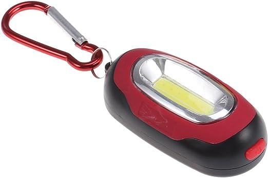 LEDMOMO Llavero LED de luz, llavero LED Llavero de escalada mosquetón al aire libre para acampar senderismo Caza (rojo)