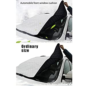 """Car Windshield Cover Sun Shade Front Protector, Anti-Frost Ice Frost Magnetic Snow Windscreen Aluminum Protective Universal Fits all Weather(Winter&Summer) for Most Trucks Suv Cars Vans (57""""x 39"""")"""