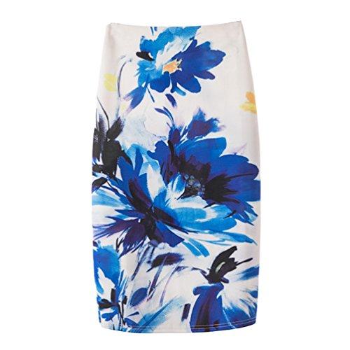 Zipper Jupe Mode Serre Impression Moulante Yuanu Confortable Jupe 32 Courte Femme Style Numrique Doux Impression zYwntqFn4
