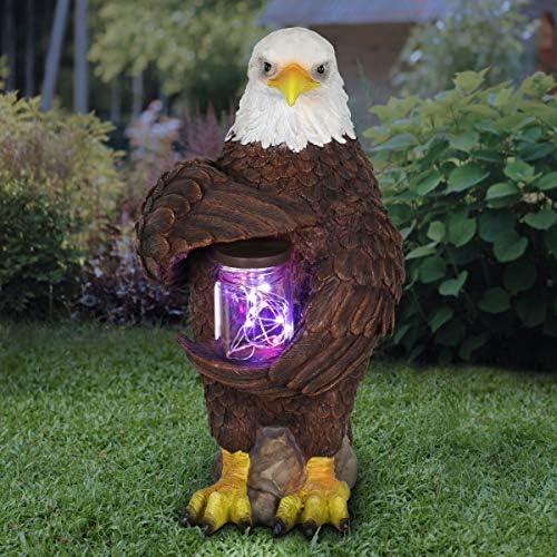 Exhart Solar Bald Eagle Statue