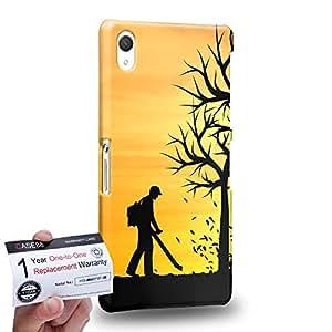 Case88 [Sony Xperia Z2] 3D impresa Carcasa/Funda dura para & Tarjeta de garantía - Art Dreamscapes Silhouettes Cleaner