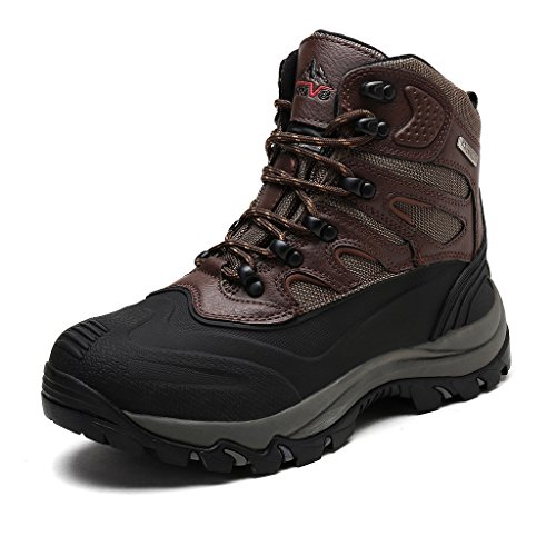 NORTIV 8 Men's 2161202 Dk.Brown Black Insulated Waterproof Work Snow Boots Size 9 M US (Size Snow Boots 8 Men)