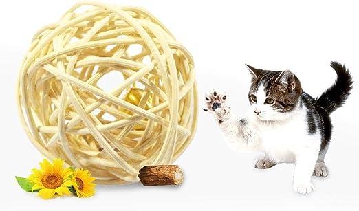 KOBWA - Pelotas interactivas de Gato, Juguete para Cascabel de ...