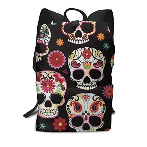 (Sugar Skull Rucksack, Large Capacity Bookbag Camping Outdoor Backpack, School Daypack Backpack Casual Daypack Climbing Shoulder Bag Business Computer Bag )