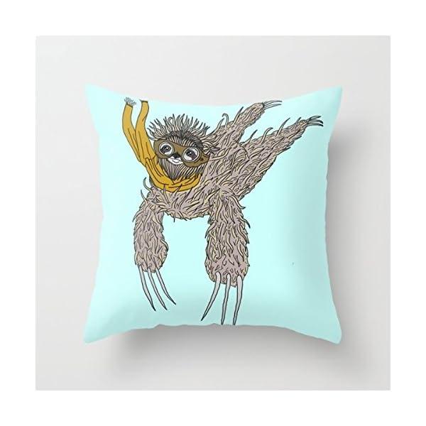 Impulsive Sloth Fashion Design Pillow Case 18''X18'' -
