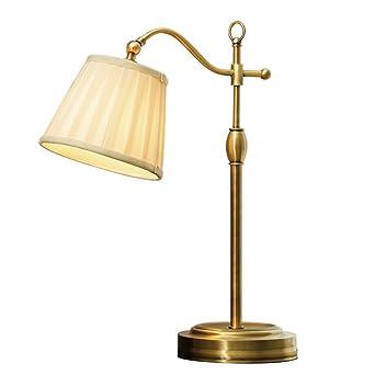 Homelx American Modern Style Waage Nacht Leselampe, Seide Stoff  Lampenschirm, Schlafzimmer Wohnzimmer Tischlampe,