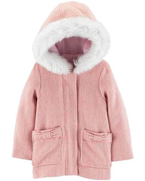 Amazon.com: Chaqueta de lana sintética con capucha de piel ...