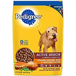 Amazon.com: PEDIGREE Active Senior Roasted Chicken, Rice & Vegetable Flavor Dry Dog Food 15