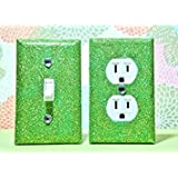 TINKERBELL Glitter Switch Plate & Outlet Covers. SET OF 2. ALL Styles Available!