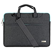 Mosiso Laptop Shoulder Bag for 11-11.6 Inch MacBook Air, MacBook 12-Inch with Retina Display 2017/2016/2015 Release, Ultrabook Polyester Briefcase Handbag with Back Belt for Trolly Case, Gray