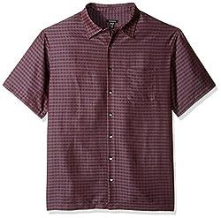 Van Heusen Men's Big and Tall Printed Rayon Short Sleeve Shirt, Plantain, Large Tall