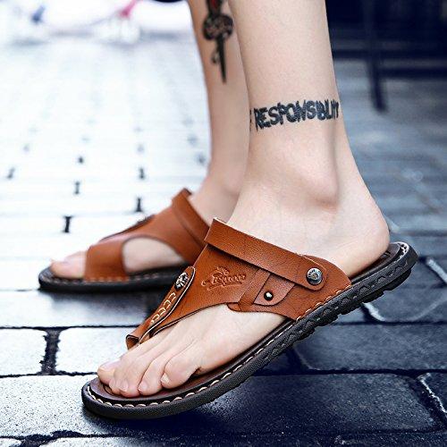 Männer Sandalen neue Sommer Verschleißfestigkeit Cool Tow Dual-Use-Sand, Verschleiß, Verschleißfestigkeit Sommer und rutschfeste Zehe Khaki 9d50ad