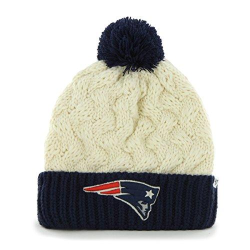 NFL New England Patriots Women's Matterhorn Cuff Knit Hat, One Size, Natural