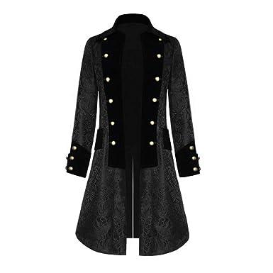 Abrigo Hombre Invierno Elegante - Gothic Jacquard Retro Coat ...