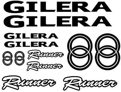 Supersticki Gilera Runner Set Ca 30cm Motorrad Aufkleber Bike Auto Racing Tuning Aus Hochleistungsfolie Aufkleber Autoaufkleber Tuningaufkleber Hochleistungsfolie Für Alle Glatten Flächen U Auto