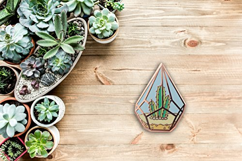 Real Sic Cactus Enamel Pin by Cute Cactus in Geometric Terrarium Lapel Pin - Premium Unisex Collection by Real Sic (Image #6)'