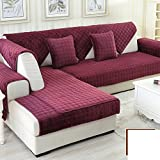 DW&HX winter Thicken Flannel plush Sofa cushions, Cover Anti-skidding Fabric Sofa cover Cushion-E 90x210cm(35x83inch)