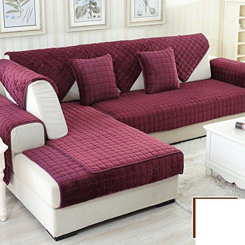 DW&HX winter Thicken Flannel plush Sofa cushions, Cover Anti-skidding Fabric Sofa cover Cushion-E 90x160cm(35x63inch) by DW&HX