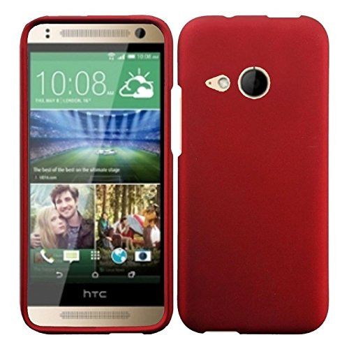 HR Wireless Rubberized Cover for HTC One Remix M8 Mini - Retail Packaging - Red by HRWireless