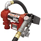 Fill-Rite FR4210G 12V 20 GPM Fuel Transfer Pump with Manual Nozzle, Discharge Hose, Suction Pipe